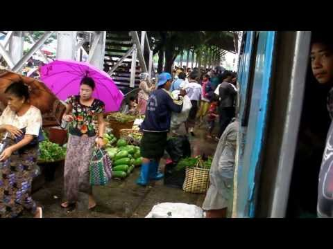 Myanmar/Burma - part 1 - Rangoon - City Center, Circle Train 2013