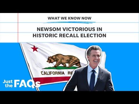 California governor Gavin Newsom wins in historic recall race | Just the FAQs