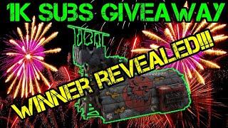 1k Subscriber Giveaway Winner Revealed - Ork Barracks