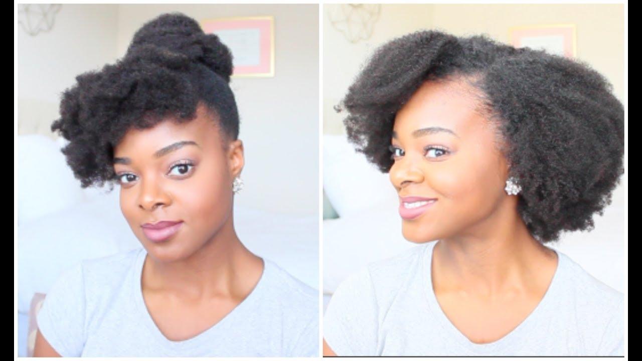 4c Clip Ins On Short Natural Hair Hergivenhair Ify Yvonne