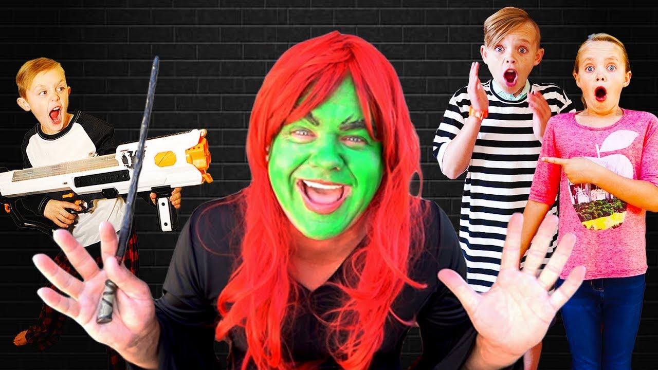 Kids Fun TV Escape The Babysitter Compilation Video! Babysitter Showdown! Escape the Room!