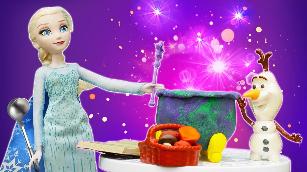 Принцессы Диснея Анна и Эльза обнаружили кристалл исчезновения - Видео игры в куклы Холодное сердце