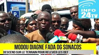 MODOU DIAGNE FADA DIRECTEUR GÉNÉRAL DE LA SONACOS EN VISITE AUX MARCHES DE DAKAR