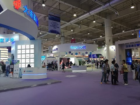 Avant-garde technologies at international software trade fair in Dalian, China
