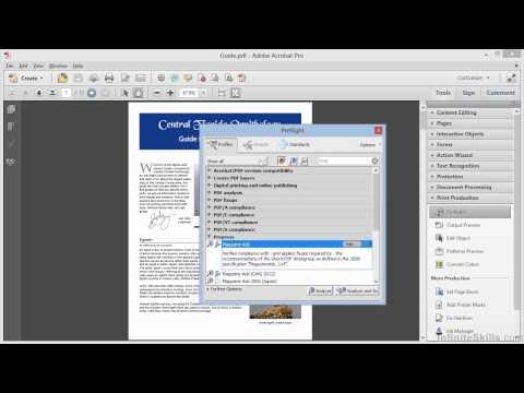 Adobe Acrobat XI Advanced Tutorial   Pre Flight Analysis