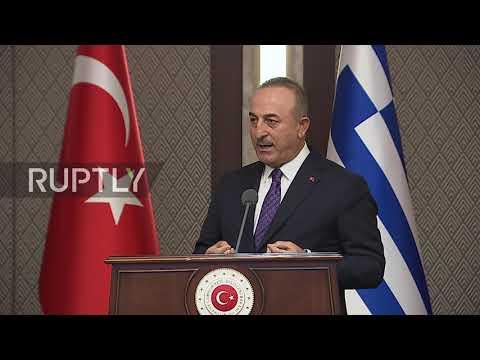 Turkey: Cavusoglu and Greek FM Dendias trade accusations at press conference in Ankara