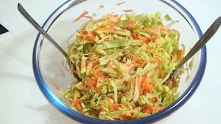 """Салат """"Щетка"""".Салат из капусты и овощей №1.. Диета.Едим и худеем"""