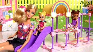 Barbie Nursery Preschool Teacher Playset With 2 Toddlers Dolls & School Furniture By Funtoys