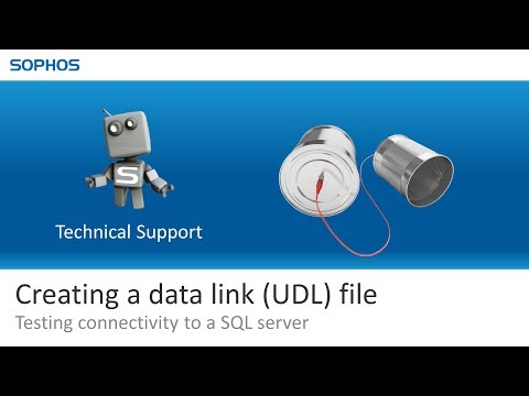Creating A Data Link (UDL) File - Testing Connectivity To A SQL Server