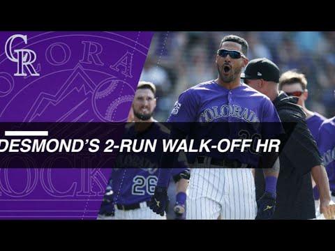 Ian Desmond's walk-off heroics lift the Rockies