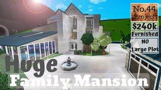 Roblox | BLOXBURG: Huge Family Mansion (Speedbuild) (NO Large Plot)