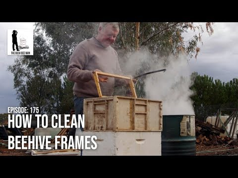 How To Clean Beehive Frames - The Bush Bee Man