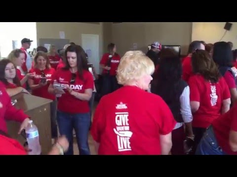 Feeding the homeless veterans at March Air Force Base, The DeBonis Team and Keller Williams