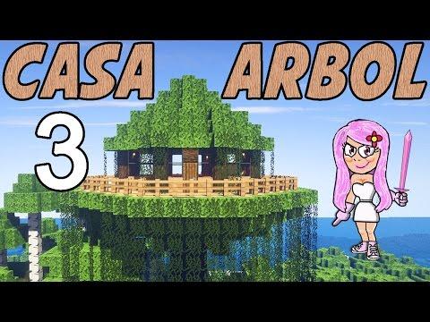 C mo hacer la casa del rbol en minecraft parte 3 for Blancana y mirote minecraft