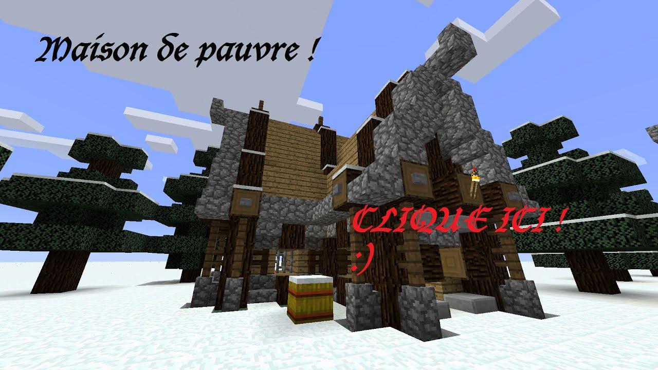 Minecraft Maison Médiévale De Pauvre Youtube