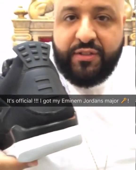 89915acb1257 DJ Khaled Got Eminem Air Jordan IV But Not The Verse - YouTube