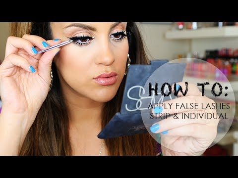 How To Apply False Lashes: Strip & Individuals from YouTube · Duration:  8 minutes 46 seconds