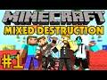 Minecraft Mixed Destruction #1 - Командное PVP
