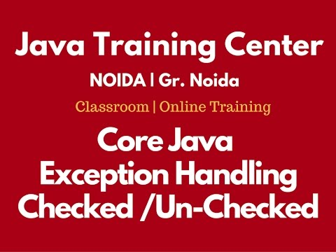 Exception Handling(Checked And UnChecked Exception ) in Java by Som Sir
