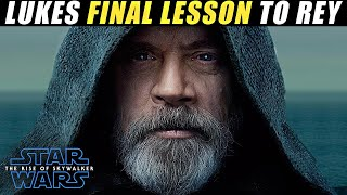Luke Skywalkers FINAL LESSON to REY on AHCH TO   Rise Of Skywalker