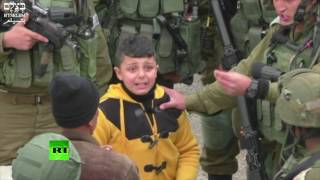 IDF grab 8yo Palestinian boy, drag him away 'to find stone-throwers', human rights group video shows
