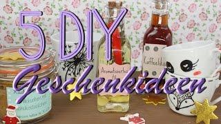 5 DIY Geschenke - Geschenkideen zum selber machen - zu Weihnachten / zum Geburtstag - aus der Küche