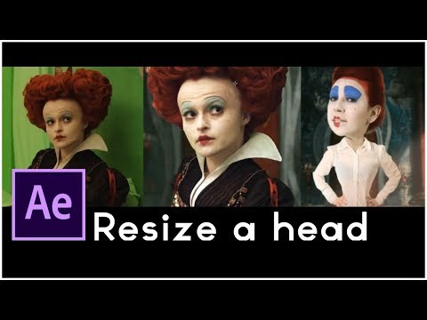 After Effects Tutorial: Hollywood Movie VFX, Resizing the head, special effect alice in wonderland
