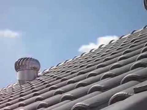 Turbine ventilator in action