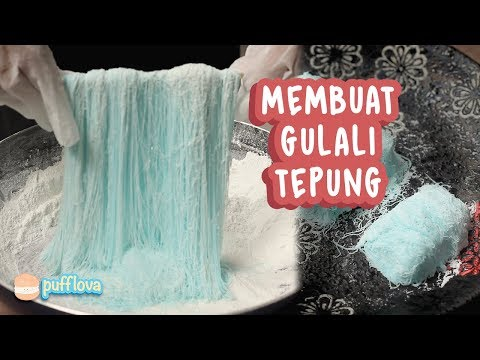 Image of MEMBUAT GULALI TEPUNG | GULALI RAMBUT NENEK | GULALI BASAH | JAJANAN SD