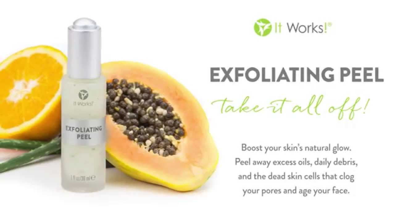 Exfoliating Peel From It Works!lessen The Appearance Of Pores Fine Lines  And Wrinkles Youtube