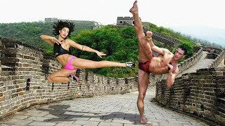Jean Claude Van Damme Trained Daughter and Son in Martial Arts ★ 2018