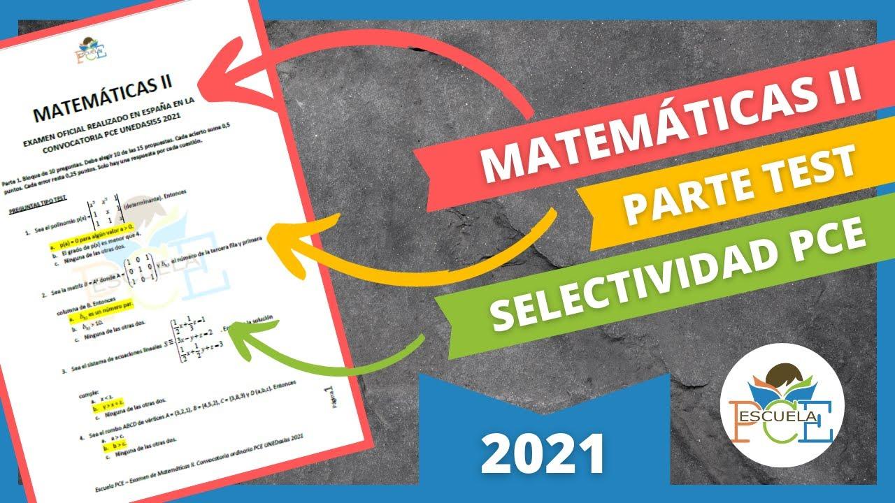 Download ✔️ EXAMEN SELECTIVIDAD PCE MATEMÁTICAS II 2021 (PARTE 1) RESUELTO