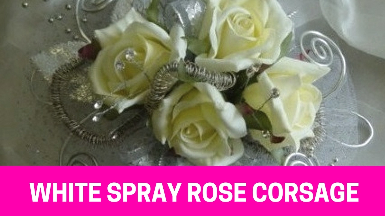 White Spray Rose Corsage Prom Corsages With Roses Youtube