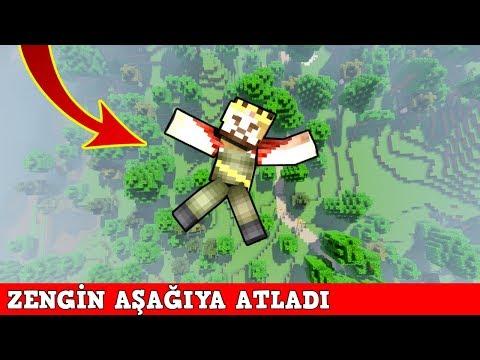 ZENGİN VS FAKİR #132 - Zengin Aşağı Atladı (Minecraft) thumbnail