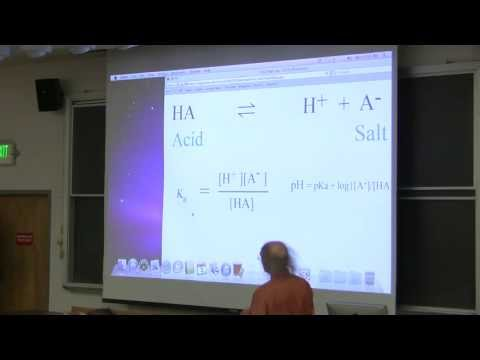 #3 Biochemistry Lecture (Buffers) from Kevin Ahern's BB 350