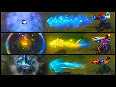 Victorious Graves vs Snow Day vs Pool Party Best Graves Skins Comparison (League of Legends)