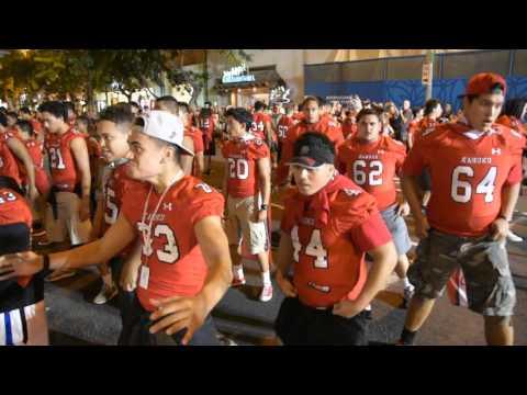 Kahuku High School Football Team Haka