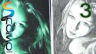 Dibujar un retrato - Sombrear (Paso 3)