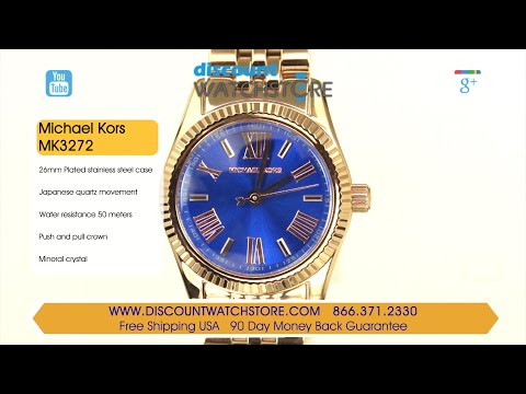 5d72c2678fde http   www.discountwatchstore.com Michael-Kors-MK3272-Womens-Lexington -Petite-Blue-Dial-Rose-Gold-Steel-Bracelet-Watch p 57881.html