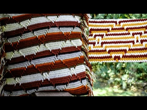 Crochet Navajo Indian Diamond Pattern Part 1 Of 6. Crochet For Beginners