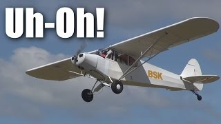 Repeat youtube video Scary full-sized Piper Cub  takeoffs and landings at NZTO