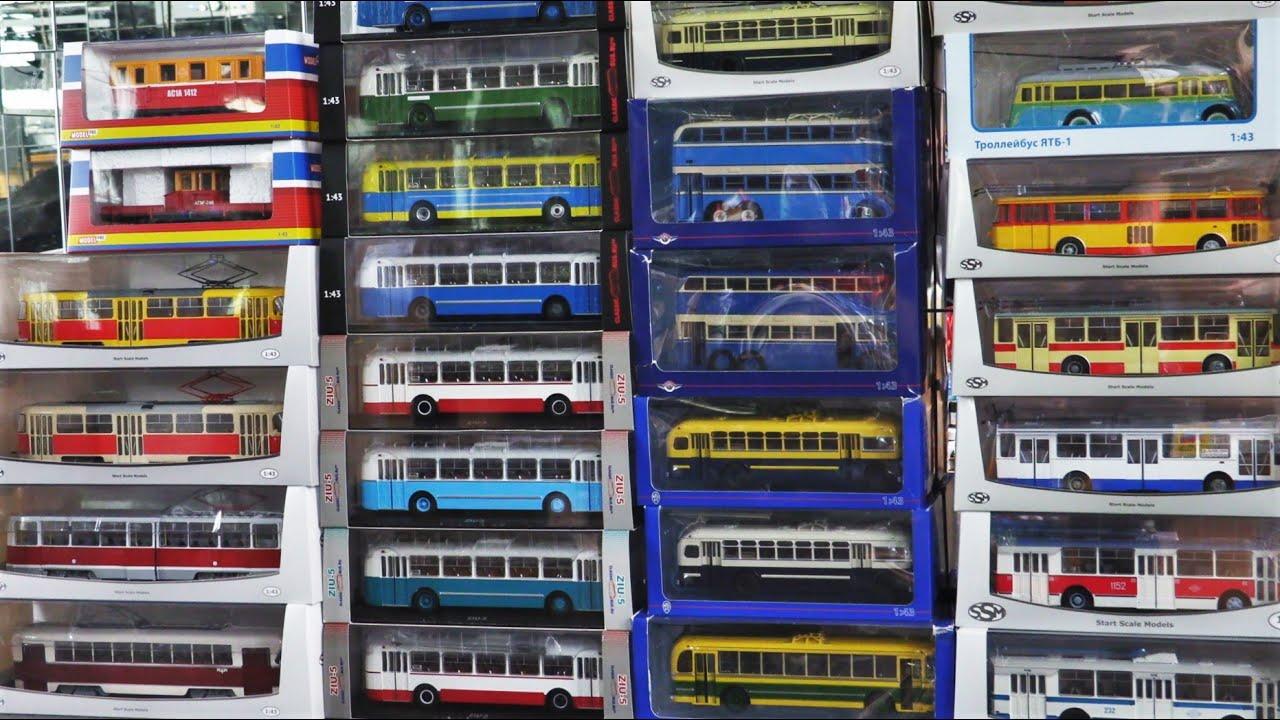 Моя небольшая коллекция троллейбусов и трамваев на данный момент в 43 масштабе /ТРАНСПОРТ /
