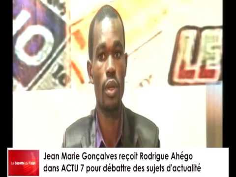 Jean-Marie GONçALVES  reçoit Rodrigue AHEGO pour le décryptage de l'actualité