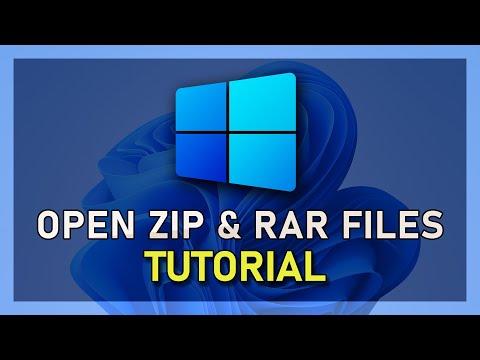 How To Open ZIP & RAR Files On Windows 10