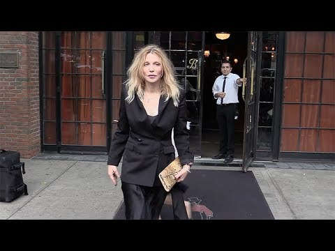 Courtney Love leaves the Bowery hotel during the New York Fashion Week