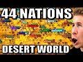 All 44 Nations on a Desert Only World! | Civilization (Civ 6)
