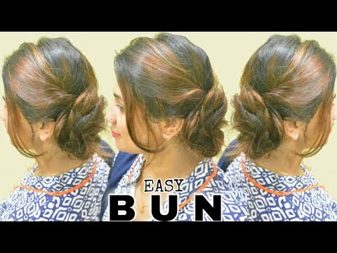 2-Minute Elegant SIDE BUN Hairstyle ★ EASY Summer & Holiday Updo HAIRSTYLES