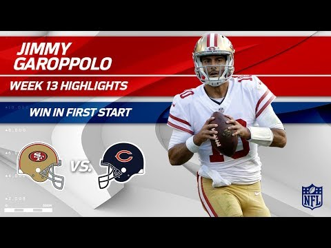 Jimmy Garoppolo Gets the Win in First Start as a 49er! | 49ers vs. Bears | Wk 13 Player Highlights