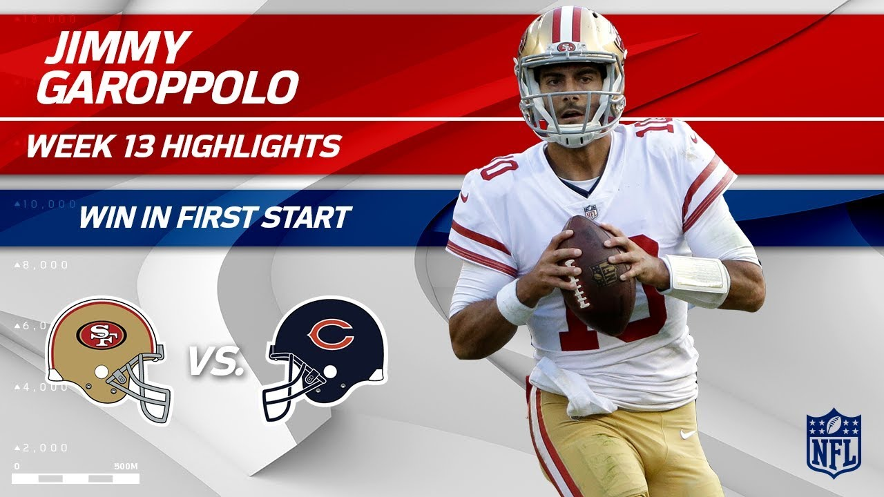 Jimmy Garoppolo gives the 49ers exactly what they need, plus more Week 13 notes