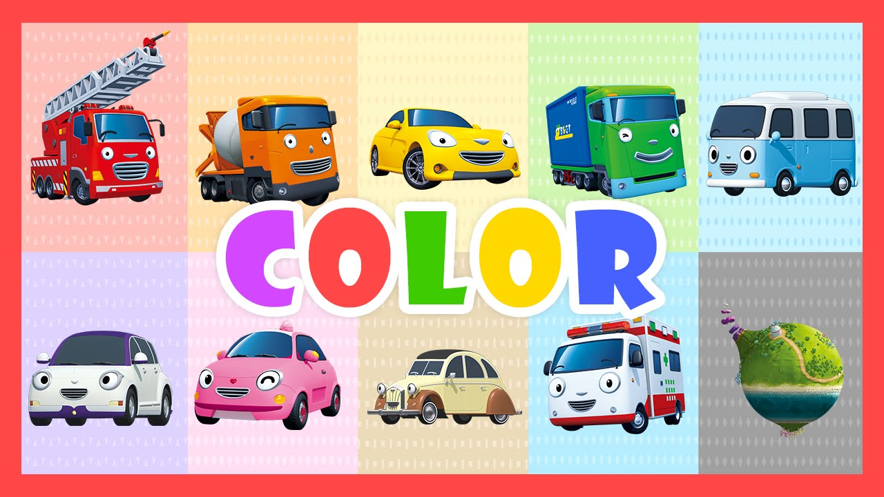 color song learn colors with tayo the little bus youtube